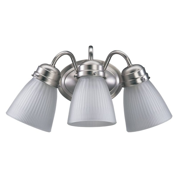 Quorum International 5403-3-165 3 Light Bathroom Vanity Light with Frosted Glass Bell Shade
