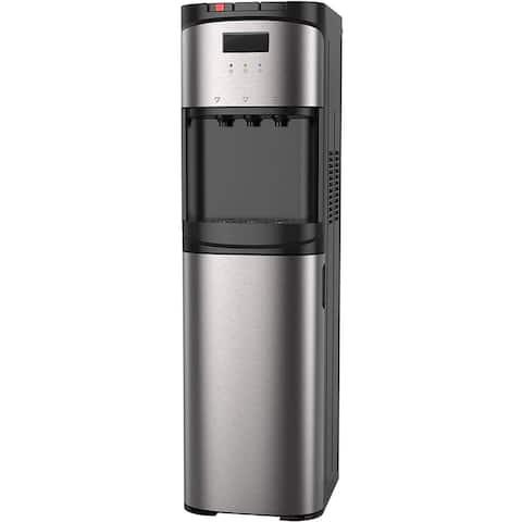 Bottom Loading Water Dispenser for 5 Gallon Bottle - Hot & Cold Water Cooler - Stainless Steel