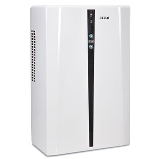 Della Premium Thermo-Electric Smart Dehumidifier LED w/ Indicator w/Auto Humidistat - For Spaces Up to 2,200 Cubic Feet