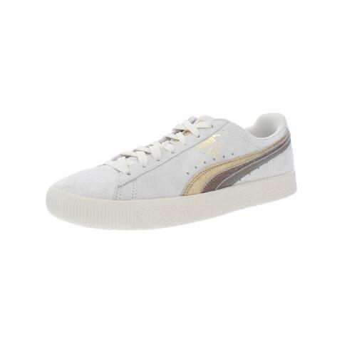 Puma Womens Clyde Skate Shoes Metallic Suede