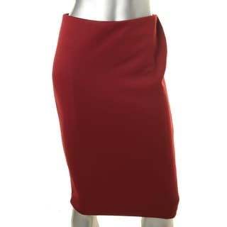 Vince Camuto Womens Stretch Exposed Back Zipper Pencil Skirt