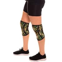 Compression Knee Sleeves Knee Pads For MMA Weight Training Work Braces Neoprene - Camo green