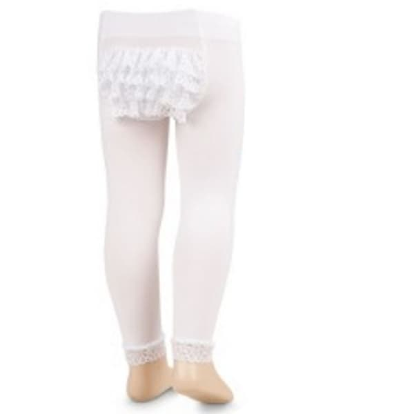 13ea4edf0b01b Shop Jefferies Socks Girls White Microfiber Rhumba Footless Tights - 0-6  Months - Free Shipping On Orders Over $45 - Overstock - 25321779