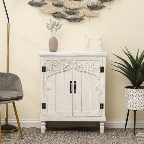 White Wood Accent Cabinet