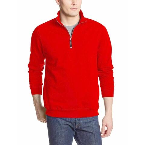 Charles River Red Mens Size Large L Pullover Half Zip Jacket