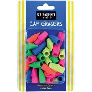 Assorted Colors - Sargent Art Cap Erasers 40/Pkg