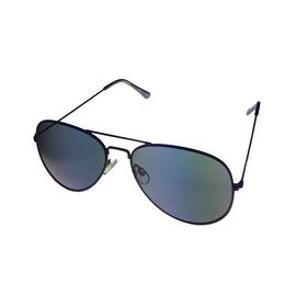 Perry Ellis Mens Sunglass PE47 4 Classic Black Metal Avaitor, Smoke Lens