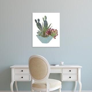 Easy Art Prints Melissa Wang's 'Cactus Arrangement I' Premium Canvas Art