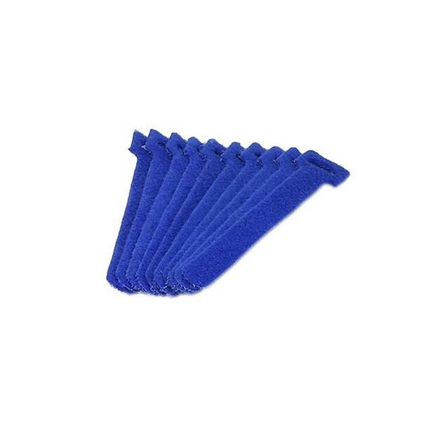 Monoprice Hook & Loop Fastening Cable Ties, 6-inch, 10pcs/pack, Blue