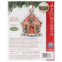 "Susan Winget Gingerbread House Counted Cross Stitch Kit-3.25""X4.25"" 14 Count Plastic Canvas"