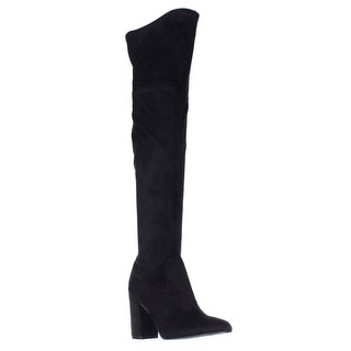 GUESS Arla Over The Knee Heeled Dress Boots - Black