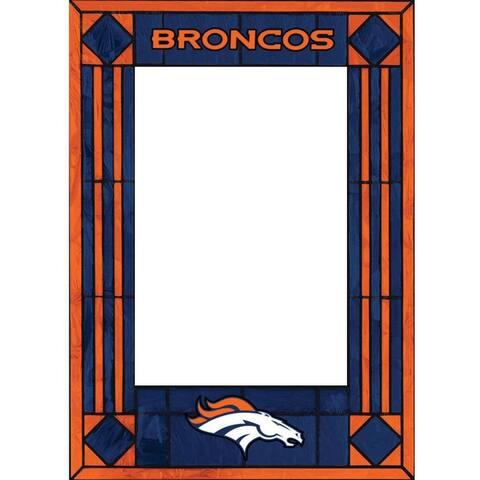 Denver Broncos Art Glass Vertical Picture Frame