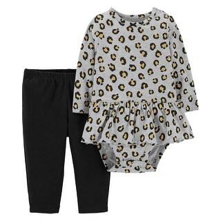 Carter's Baby Girls' 2-Piece Leopard Peplum Bodysuit Pant Set