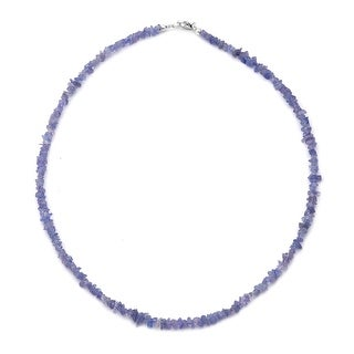 925 Sterling Silver Tanzanite Necklace 18 Inch - Size 18''