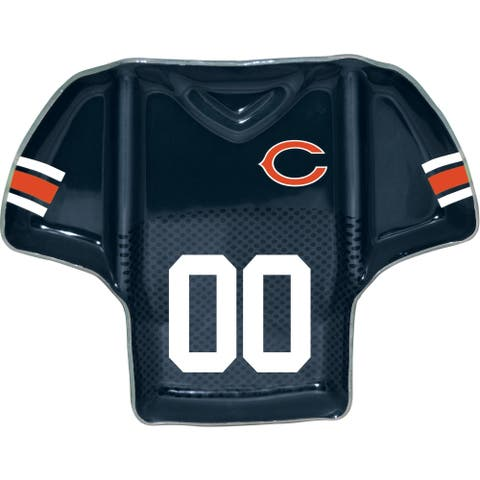 Chicago Bears Glass Jersey Chip and Dip Tray