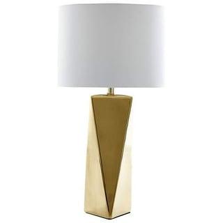 Cyan Design Dalarna Table Lamp Dalarna 1 Light Accent Table Lamp with White Shade - Gold