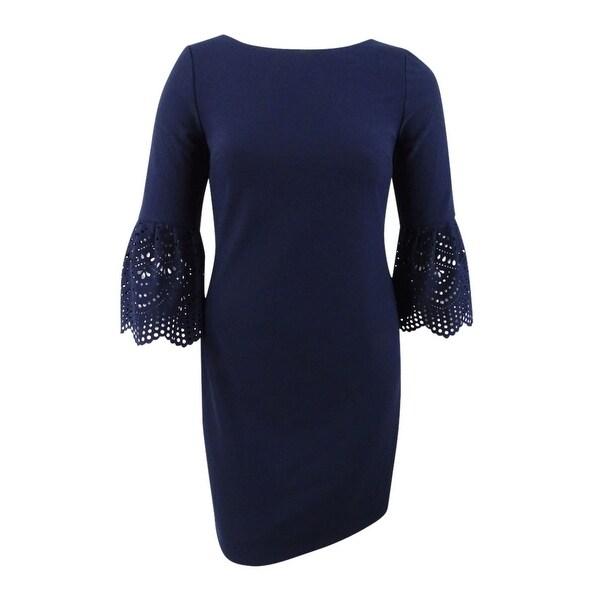 Shop Jessica Howard Women S Bell Sleeve Lasercut Dress 12