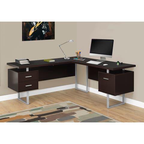 Monarch 7305 Cappuccino Left Or Right Facing 70nch Computer Desk