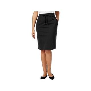 Karen Scott Womens Petites Skirt Ribbed A Line - ps
