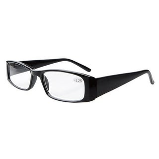Eyekepper Spring Hinges Rectangular Reading Glasses Readers Black +1.0