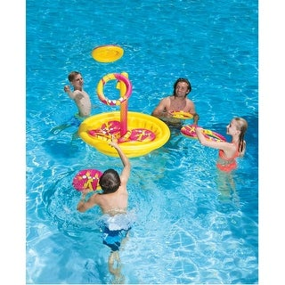 "49"" Inflatable Yellow and Red Swimming Pool or Yard Disc Golf Game"