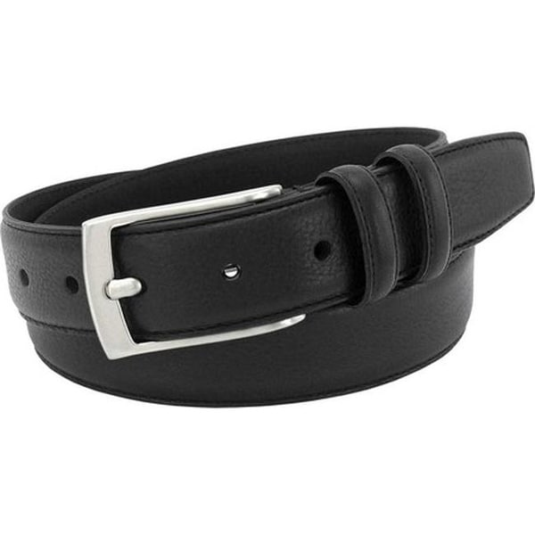 5019dc08b3a5 Florsheim Men  x27 s Italian Leather Single Stitch Edge Belt Black Full  Grain Leather