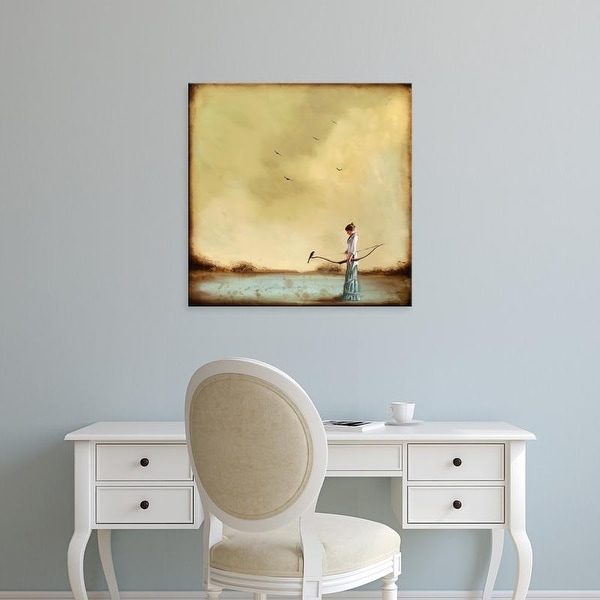 Easy Art Prints Alicia Armstrong's 'Second Thoughts' Premium Canvas Art