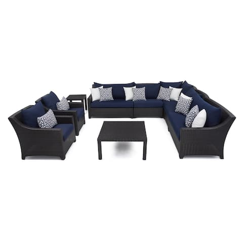 Deco 9pc Corner Sectional & Club Chair Set with Cushions by RST Brands