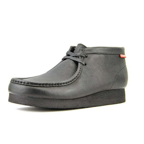Clarks Stinson Hi Men Moc Toe Leather Black Chukka Boot
