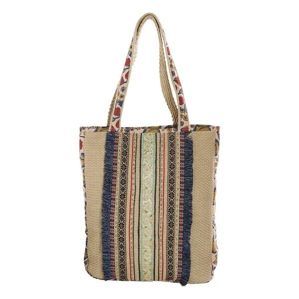 Shop Catalog Classics Women s Kolkata Tote Bag- Embellished Zip Top Hand Bag  - Free Shipping On Orders Over  45 - Overstock.com - 23051460 7bce1c5c23d51