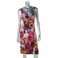 Jessica Simpson Womens Casual Dress Satin Floral Print - 2