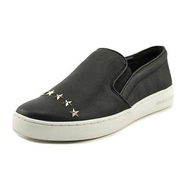 MICHAEL Michael Kors Womens Keaton Star Leather Low Top Slip On Fashion Sneak... - 6.5