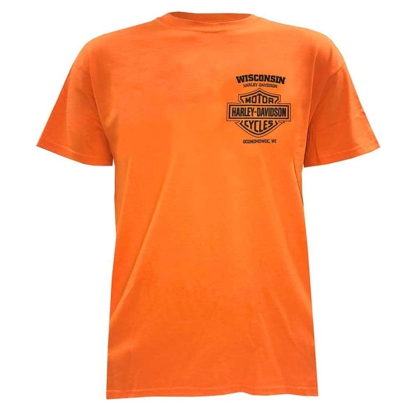 02bcd1ce7f12 Shop Harley-Davidson Men s Certified Winged B S Short Sleeve T-Shirt ...