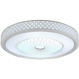 Contemporary LED Flush Mount Light, Aluminum Acrylic Ceiling Light, Fixture