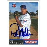 Pat Mahomes Autographed Baseball Card Chicago Cubs 2002 Topps Total
