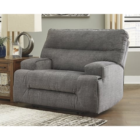 Coombs Gray Contemporary Wide Seat Recliner