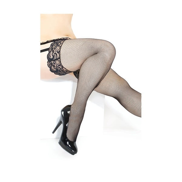 199186f69 Shop Plus Size Fishnet Stocking With Silicone Grip