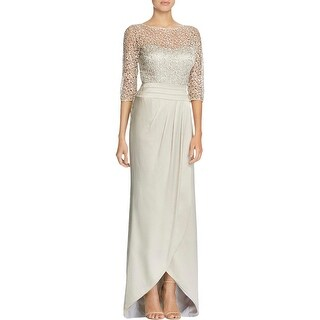 Kay Unger Womens Evening Dress Lace Sheath