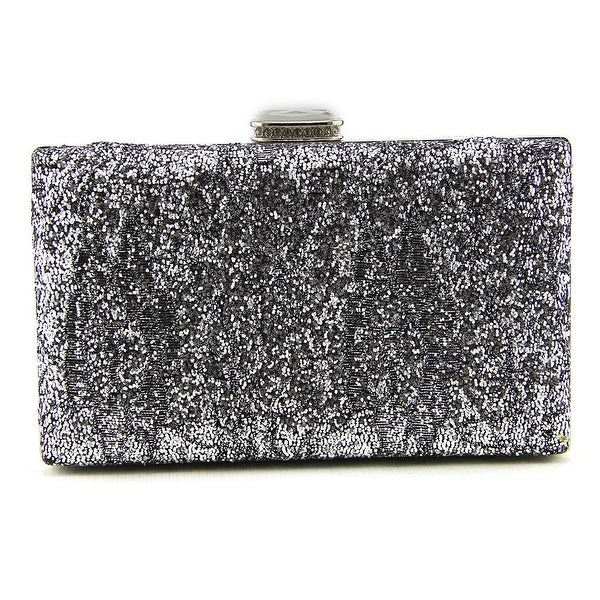 Lulu Townsend Minaudiere Women   Synthetic  Clutch - Silver