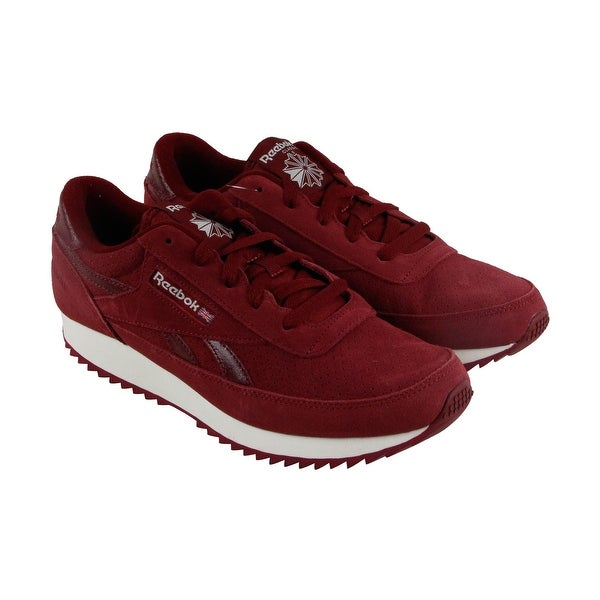 Reebook Classic Renaissance Ripple Mens Red Suede Athletic Running Shoes
