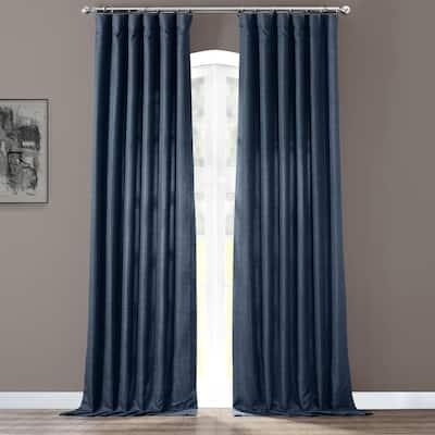 Exclusive Fabrics Italian Faux Linen Curtain (1 Panel)