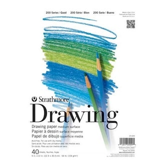 "Strathmore - Drawing Paper Pad - 200 Series - 5.5"" x 8.5"" -�Tape-Bound, 40 Shts./Pad"