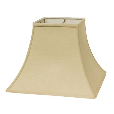Cloth & Wire Slant Square Bell Hardback Lampshade with Washer Fitter, Beige