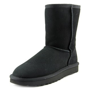 Ugg Australia Classic Short II   Round Toe Suede  Winter Boot