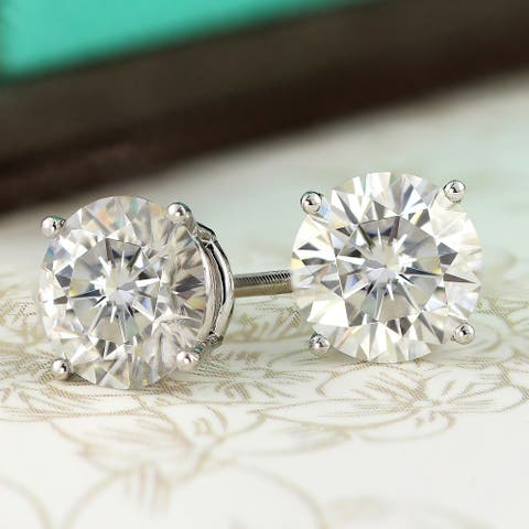 14k Gold 2ctw Round Lab Grown Diamond Stud Earrings by Ethical Sparkle