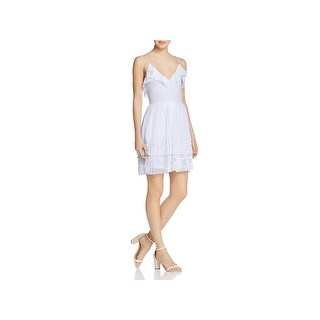 French Connection Womens Adanna Cocktail Dress Chiffon Lace