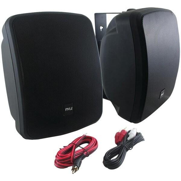 "PYLE HOME PDWR54BTB 5.25"" Indoor/Outdoor 600-Watt Bluetooth(R) Speaker System (Black)"