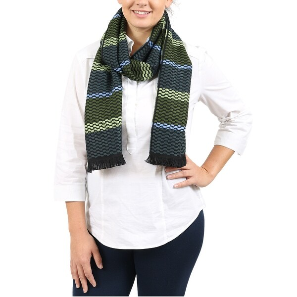 Missoni Green/Gray Wave Scarf - 14-72. Opens flyout.