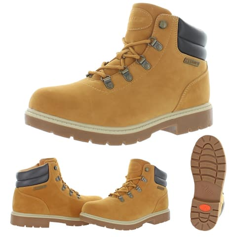 Lugz Women's Lynnwood Mid Faux Leather Mid Top Hiking Chukka Boots - Golden Wheat/Bark/Cream/Gum