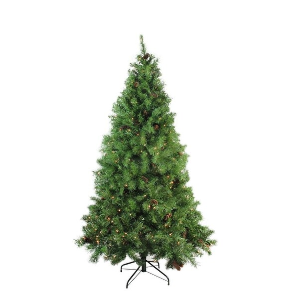 "7.5' x 56"" Pre-Lit Dakota Red Pine Full Artificial Christmas Tree - Clear Lights"